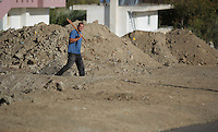 Pictured: A forensic archaeologist works at the second site in Kos, Greece. Thursday 13 October 2016<br />Re: Police teams led by South Yorkshire Police are searching for missing toddler Ben Needham on the Greek island of Kos.<br />Ben, from Sheffield, was 21 months old when he disappeared on 24 July 1991 during a family holiday.<br />Digging has begun at a new site after a fresh line of inquiry suggested he could have been crushed by a digger.