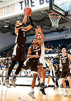 WASHINGTON, DC - JANUARY 5: Dominick Welch #1 of St. Bonventure goes up for a shot during a game between St. Bonaventure University and George Washington University at Charles E Smith Center on January 5, 2020 in Washington, DC.
