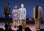Christian Camargo, Jayne Houdyshell, Brent Carver and Chuck Cooper during the Broadway Opening Night Performance Curtain Call for 'Romeo and Juliet' at the Richard Rodgers Theatre in New York City on September 19, 2013.
