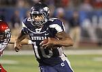 University of Nevada, Reno quarterback Colin Kaepernick runs in the fourth quarter of Thursday's NCAA college football game, Sept. 2, 2010, in Reno, Nev..Photo by Cathleen Allison