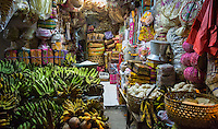 Bali, Indonesia.  Early-Morning Market Stall, Jimbaran Market.