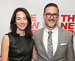 """Evelyn White and Sharr White attends the New Group World Premiere of """"The True"""" on September 20, 2018 at The Green Fig Urban Eatery in New York City."""