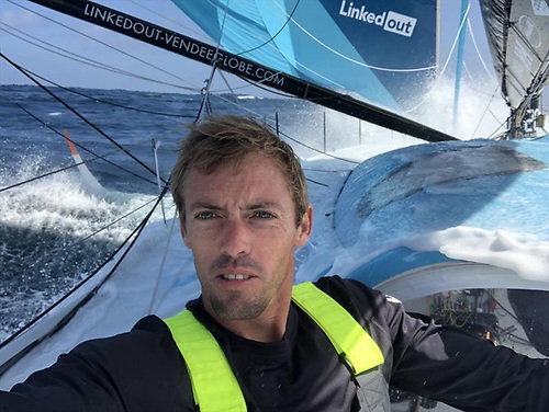Vendee Globe leader Thomas Ruyant (above) on LinkedOut is managed by Kinsale and Howth's Marcus Hutchinson (below)
