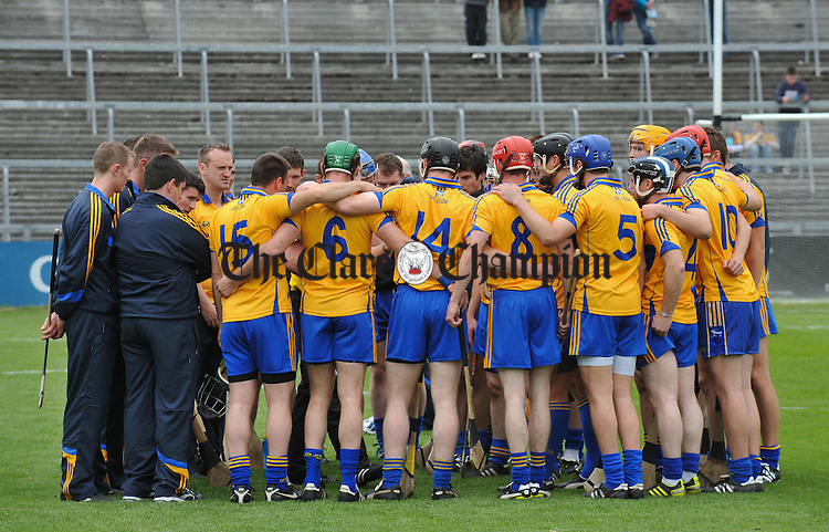 The Clare team before their intermediate championship game at The Gaelic Grounds. Photograph by John Kelly