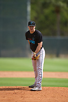 Miami Marlins pitcher Jacob Walters (13) during a Minor League Spring Training camp day on April 27, 2021 at Roger Dean Chevrolet Stadium Complex in Jupiter, Fla.  (Mike Janes/Four Seam Images)