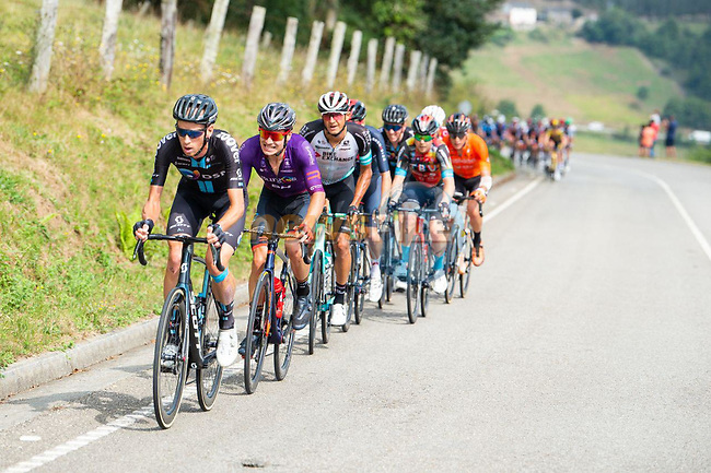 The large breakaway during Stage 19 of La Vuelta d'Espana 2021, running 191.2km from Tapia de Casariego to Monforte de Lemos, Spain. 3rd September 2021.    <br /> Picture: Cxcling | Cyclefile<br /> <br /> All photos usage must carry mandatory copyright credit (© Cyclefile | Cxcling)