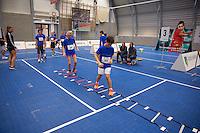 Rotterdam, Netherlands, December 19, 2015,  Topsport Centrum, Lotto NK Tennis, ABNAMROWTT Ballenkinderen selectiedag<br /> Photo: Tennisimages/Henk Koster