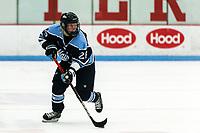BOSTON, MA - JANUARY 04: Ida Kuoppala #26 of University of Maine looks to pass during a game between University of Maine and Boston University at Walter Brown Arena on January 04, 2020 in Boston, Massachusetts.