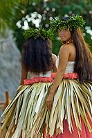 Hula kahiko dancers, Maui