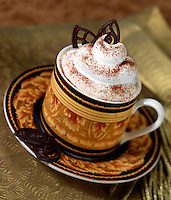 Cappuchino with Chocolate Wafer, Whipped Cream and Powdered Chocolate