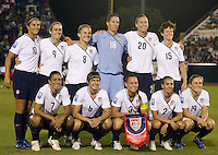 USA starting eleven team during the semifinal match of CONCACAF Women's World Cup Qualifying tournament held at Estadio Quintana Roo in Cancun, Mexico. Mexico 2, USA 1.