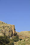 Judean desert, the Russian Orthodox Chariton Monastery in Wadi Qelt
