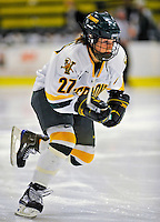 8 November 2008: University of Vermont Catamount forward Erin Barley-Maloney, a Freshman from Raleigh, NC, in action against the Wayne State Warriors at Gutterson Fieldhouse, in Burlington, Vermont. The Catamounts were shut out by the Warriors 7-0...Mandatory Photo Credit: Ed Wolfstein Photo