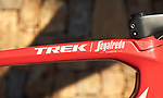 Trek Emonda one of the team bikes of the Trek–Segafredo 2021 mens team during their winter training camp. 18th January 2021.<br /> Picture: Trek Factory Racing | Cyclefile<br /> <br /> All photos usage must carry mandatory copyright credit (© Cyclefile | Trek Factory Racing)