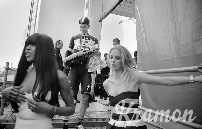 Niki Terpstra (NLD/OPQS) getting offstage after the ceremony (where he was honored as 2nd)<br /> <br /> 57th E3 Harelbeke 2014