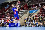 Gregor Thomann (HBW Balingen #8) ; BGV Handball Cup 2020 Halbfinaltag: TVB Stuttgart vs. HBW Balingen-Weilstetten am 11.09.2020 in Ludwigsburg (MHPArena), Baden-Wuerttemberg, Deutschland<br /> <br /> Foto © PIX-Sportfotos *** Foto ist honorarpflichtig! *** Auf Anfrage in hoeherer Qualitaet/Aufloesung. Belegexemplar erbeten. Veroeffentlichung ausschliesslich fuer journalistisch-publizistische Zwecke. For editorial use only.