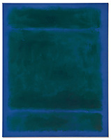 BNPS.co.uk (01202) 558833.<br /> Pic: Christie's/BNPS<br /> <br /> A seemingly simple painting of a blue rectangle has sold for a staggering £27million - as it is considered a poignant masterpiece.<br /> <br /> The 68ins by 54ins piece of modern art called 'Untitled' was the penultimate painting produced by Mark Rothko before he committed suicide in 1970.<br /> <br /> Experts say oil on canvas features different tones of blue which 'mutate and glimmer' as they catch the light, in turn 'encapsulating the spirit of his life's work'.
