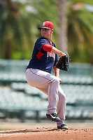 GCL Red Sox starting pitcher Jhonathan Diaz (31) during a game against the GCL Orioles on August 16, 2016 at the Ed Smith Stadium in Sarasota, Florida.  GCL Red Sox defeated GCL Orioles 2-0.  (Mike Janes/Four Seam Images)