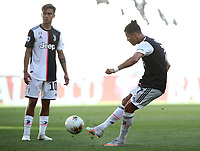 Calcio, Serie A: Juventus - Torino, Turin, Allianz Stadium, July 4, 2020.<br /> Juventus' Cristiano Ronaldo scores during the Italian Serie A football match between Juventus and Torino at the Allianz stadium in Turin, July 4, 2020.<br /> UPDATE IMAGES PRESS/Isabella Bonotto