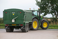 12-8-2021 Tractor and trailer turning at a road junction<br /> ©Tim Scrivener Photographer 07850 303986<br />      ....Covering Agriculture In The UK....