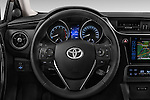 Car pictures of steering wheel view of a 2015 Toyota Auris Touring Sports Dynamic 5 Door Wagon Steering Wheel