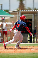 GCL Cardinals Freddy De Jesus (29) at bat during a Gulf Coast League game against the GCL Marlins on August 12, 2019 at the Roger Dean Chevrolet Stadium Complex in Jupiter, Florida.  GCL Marlins defeated the GCL Cardinals 9-2.  (Mike Janes/Four Seam Images)
