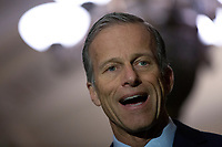 United States Senator John Thune (Republican of South Dakota) speaks to the media following Republican Senate luncheons on Capitol Hill in Washington D.C., U.S., on Tuesday, November 5, 2019.<br />  <br /> Credit: Stefani Reynolds / CNP /MediaPunch