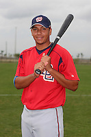 Washington Nationals minor leaguer Francisco Plasencia during Spring Training at the Carl Barger Training Complex on March 20, 2007 in Melbourne, Florida.  (Mike Janes/Four Seam Images)
