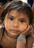 Aldeia Laranjal, Xingu. Para State. Laranjal Arara village on the Iriri River.