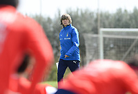20190226 - LARNACA , CYPRUS :  illustration picture shows the Italian team with head coach Milena Bertolini during a Matchday -1 training prior to their game against the women team of Mexico , on Tuesday 26 February 2019 at the Alpha Sports Grounds in Larnaca , Cyprus . This will be the first game in group B for Belgium during the Cyprus Womens Cup 2019 , a prestigious women soccer tournament as a preparation on the European Championship 2021 qualification duels. PHOTO SPORTPIX.BE | DAVID CATRY