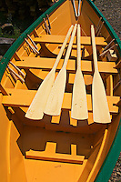 Boat with paddles, Lunenburg, Canada