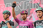 Maglia Ciclamino Peter Sagan (SVK) and Bora-Hansgrohe at sign on before the start of Stage 5 of the 103rd edition of the Giro d'Italia 2020 running 225km from Mileto to Camigliatello Silano, Sicily, Italy. 7th October 2020.  <br /> Picture: LaPresse/Massimo Paolone | Cyclefile<br /> <br /> All photos usage must carry mandatory copyright credit (© Cyclefile | LaPresse/Massimo Paolone)