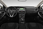 Stock photo of straight dashboard view of 2017 Volvo V40 Momentum 5 Door Hatchback Dashboard