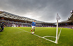 Barrie McKay walks over to the flag to take a corner kick