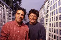patrick Bruel et Julien Clerc<br /> 1992<br /> © TERRASSON/DALLE