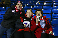 Fleetwood Town's fans ahead of the The Checkatrade Trophy match between Bury and Fleetwood Town at Gigg Lane, Bury, England on 9 January 2018. Photo by Juel Miah/PRiME Media Images.
