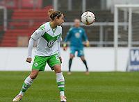 20151213 - KOELN , GERMANY : Wolfsburg 's Babett Peter pictured during the female soccer match between 1.FC Koln and 1. VFL Wolfsburg , on the 11th day of the German Bundesliga season 2015-2016 in sudstadion in Koln. Sunday 13 December 2015 . PHOTO DAVID CATRY