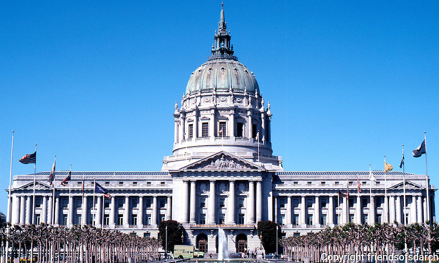 San Francisco:  City Hall--elevation. Bakewell & Brown. Competition 1912, 1915.  Photo '84.