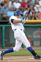 Clint Robinson #25 of the Omaha Storm Chasers plays for the Pacific Coast League All-Stars in the annual Triple-A All-Star Game against the International League All-Stars at Spring Mobile Ballpark on July 13, 2011  in Salt Lake City, Utah. The International League won the game, 3-0. Bill Mitchell/Four Seam Images.