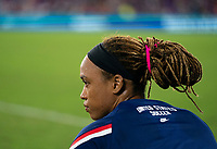 ORLANDO, FL - MARCH 05: Jess McDonald #22 of the United States warms up during a game between England and USWNT at Exploria Stadium on March 05, 2020 in Orlando, Florida.