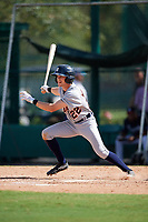 Detroit Tigers Danny Woodrow (22) at bat during an Instructional League game against the Atlanta Braves on October 10, 2017 at the ESPN Wide World of Sports Complex in Orlando, Florida.  (Mike Janes/Four Seam Images)