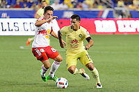 Harrison, NJ - Wednesday July 06, 2016: Vincent Bezecourt, Osvaldo Martinez during a friendly match between the New York Red Bulls and Club America at Red Bull Arena.