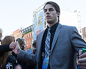 Steven McParland (PC - 15) - The teams walked the red carpet through the Fan Fest outside TD Garden prior to the Frozen Four final on Saturday, April 11, 2015, in Boston, Massachusetts.