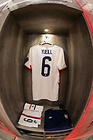 GUADALAJARA, MEXICO - MARCH 24: The locker of Jackson Yueill #6 of the United States before a game between Mexico and USMNT U-23 at Estadio Jalisco on March 24, 2021 in Guadalajara, Mexico.