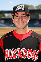 June 16, 2009:  Catcher Alan Ahmady of the Batavia Muckdogs head shot before a practice at Dwyer Stadium in Batavia, NY.  The Batavia Muckdogs are the NY-Penn League Single-A affiliate of the St. Louis Cardinals.  Photo by:  Mike Janes/Four Seam Images