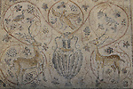 Israel, Tel Aviv, a Byzantine mosaic from Beth Guvrin at the Eretz Israel Museum