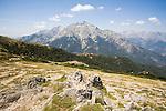Corsica, France, GR Footpath, GR20, Hiking Trail down spine of Corsica, Monte 'd Oro,  Europe, Mediterranean Islands,
