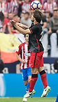 Yeray Alvarez Lopez of Athletic Club (C) in action during their La Liga match between Atletico de Madrid vs Athletic de Bilbao at the Estadio Vicente Calderon on 21 May 2017 in Madrid, Spain. Photo by Diego Gonzalez Souto / Power Sport Images