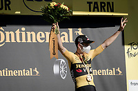 Wout van Aert (BEL/Jumbo - Visma) wins his 3rd Tour stage (in 20 started) <br /> <br /> Stage 7 from Millau to Lavaur (168km)<br /> <br /> 107th Tour de France 2020 (2.UWT)<br /> (the 'postponed edition' held in september)<br /> <br /> ©kramon