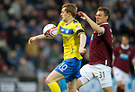 Hearts v St Johnstone...03.12.11   SPL .Liam Craig chips the ball over Marian Kello to put saints 1-0 up.Picture by Graeme Hart..Copyright Perthshire Picture Agency.Tel: 01738 623350  Mobile: 07990 594431